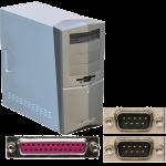 Computer mit RS-232 / LPT Parallel
