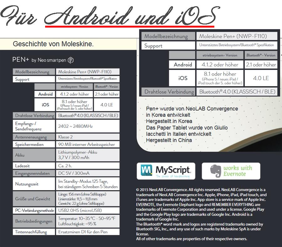 Moleskine Smart Writing Set Ellipse Smartpen Für Android Iphone Mit Heft Neu Comcurrent