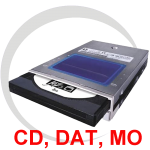Vintage Optical Drives, DAT, MO