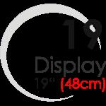 "Displays 19"" (48cm)"