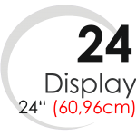 "Displays 24"" (60,96cm)"