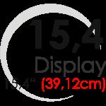 "Displays 15,4"" (39,14cm)"
