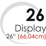 "Displays 26"" (66,04cm)"
