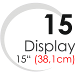 "Displays 15"" (38,1cm)"